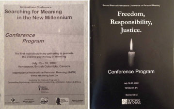 Cover of first Meaning Conference