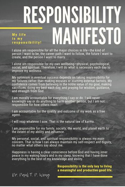 Responsibility Manifesto